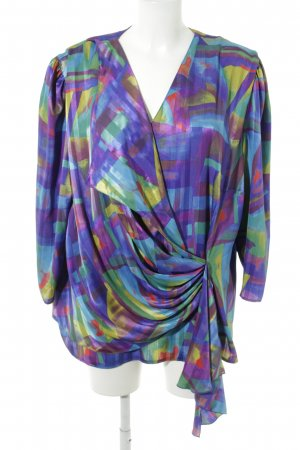 Höpfner Langarm-Bluse abstraktes Muster Casual-Look