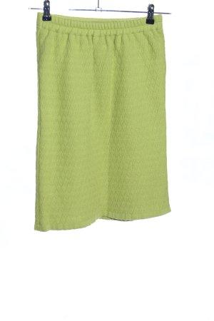 Hofius Falda de punto verde Patrón de tejido look casual