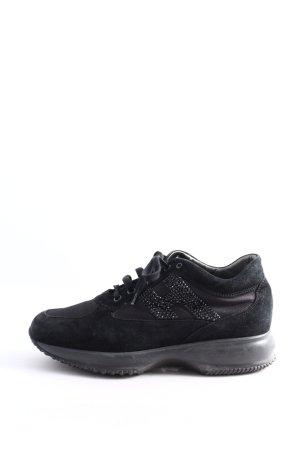 Hogan Absatz Sneaker schwarz-silberfarben Motivdruck Casual-Look