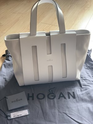 Hogan Bi-Bag Shopping Medium Leder/Canvas weiß- nagelneu!