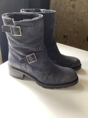 Hogan Laarzen met bont donkerblauw