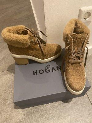 Hogan by Tods Stiefel Leder G.42 NEU Leder Luxus Stiefeletten
