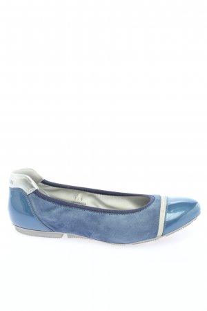 Hogan Foldable Ballet Flats blue-silver-colored casual look