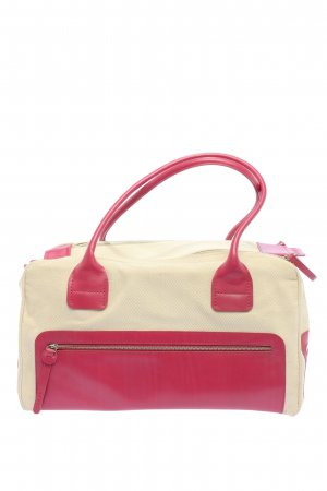 Hogan Bolso barrel crema-rosa look casual