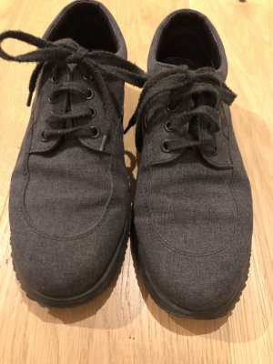 Hogan Lace Shoes anthracite-dark grey linen