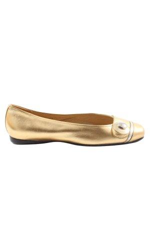 Hogan Klassische Ballerinas goldfarben-silberfarben Casual-Look