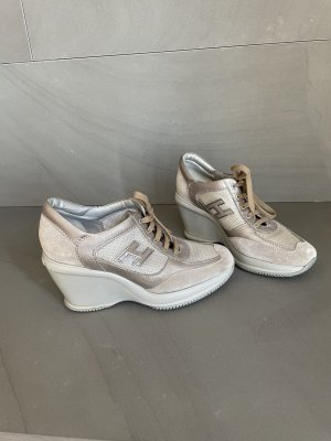 Hogan Plateau-Sneaker/Wegdes- Sneaker- Gr. 37,5- taupe- top
