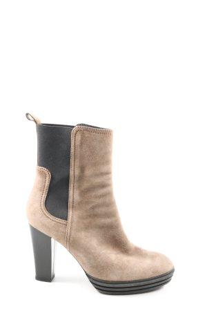 Hogan Wciągane buty za kostkę kremowy-czarny W stylu casual