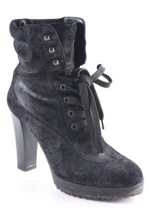 Hogan Bottines à lacets noir élégant