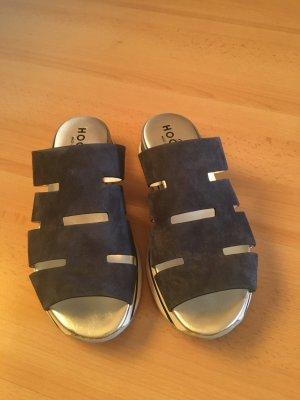 Hogan Platform Sandals multicolored leather