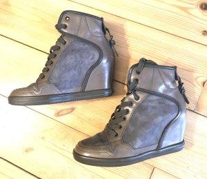 hogan rebel Sneaker con tacco ocra-grigio
