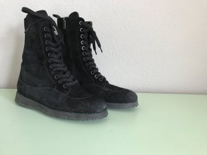 Hogan Bottes à lacets noir cuir