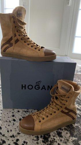Hogan Botki cognac-brązowy