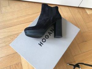 Hogan Bottines à plateforme noir cuir