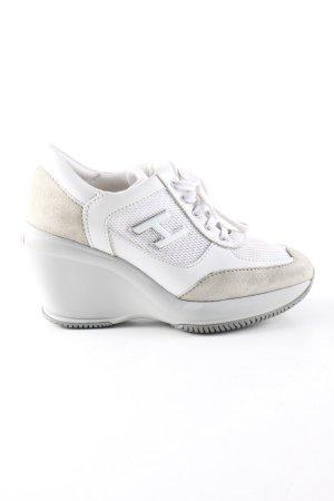 Hogan Wedge Sneaker weiß-creme Casual-Look
