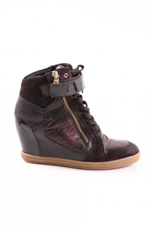 Hogan Wedge Sneaker brown casual look