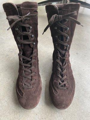 Hogan Bottes à lacets brun foncé