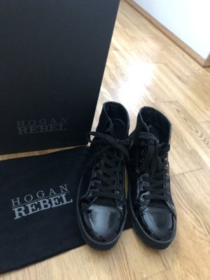 Hogan High Top Sneaker black leather