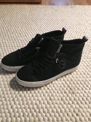 Hohe Durden Sneaker von Colmar (schwarze Rochenleder-Optik)