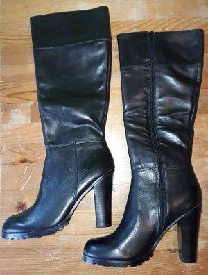 hohe Leder Stiefel mit Reißverschluss