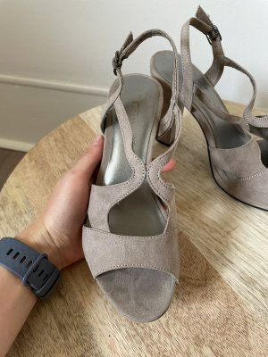 Tamaris Strapped High-Heeled Sandals beige
