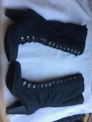 Graceland Bottes à lacets noir