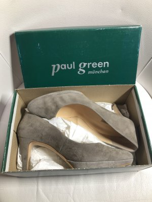 Paul Green Décolleté con plateau marrone-grigio