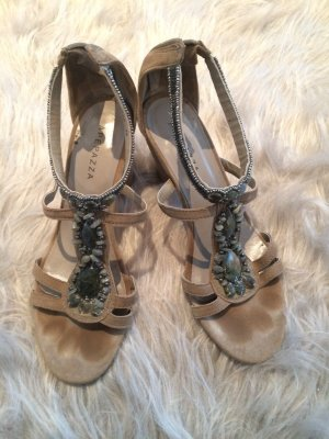 Apepazza Strapped Sandals khaki-camel