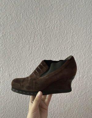 Rive Gauche Slip-on Booties brown