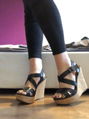 Aldo Wedge Sandals black-light brown