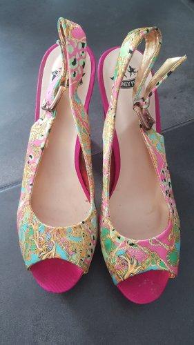 Hoge hakken sandalen roze