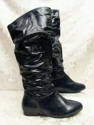 Slouch Boots dark blue