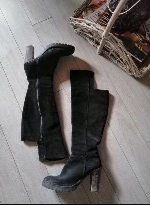 Hohe Stiefel Leder 39
