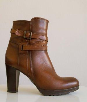 Cox Botas de tacón alto coñac-marrón