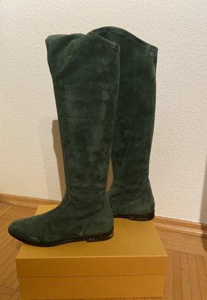 Unützer Slouch Boots forest green-dark green