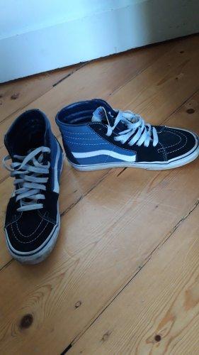 Vans Zapatos de patinador negro-azul acero