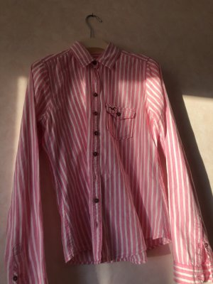 Holister Flanellen hemd wit-roze