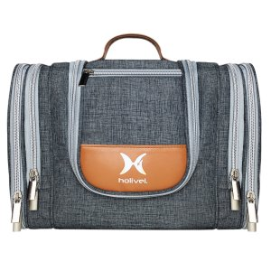holivel Premium Kulturtasche für Damen und Herren I Großer Kulturbeutel zum Aufhängen für Reisen mit Haken