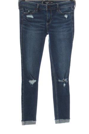 Hollister Jeans 7/8 bleu style décontracté