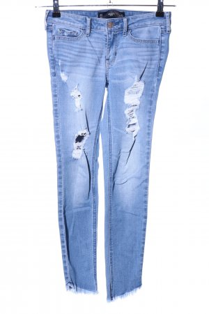 Hollister 7/8-jeans blauw casual uitstraling
