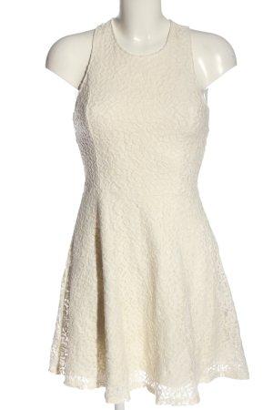 Hollister A-Linien Kleid wollweiß Blumenmuster Elegant