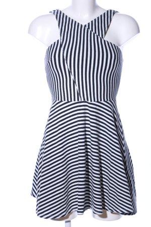 Hollister A-Linien Kleid schwarz-weiß Streifenmuster Casual-Look