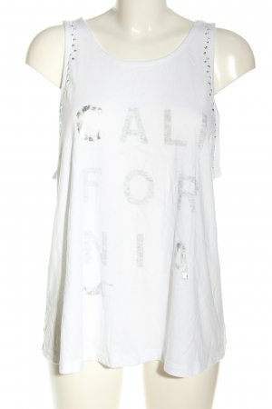 Hollister A Line Top white printed lettering casual look