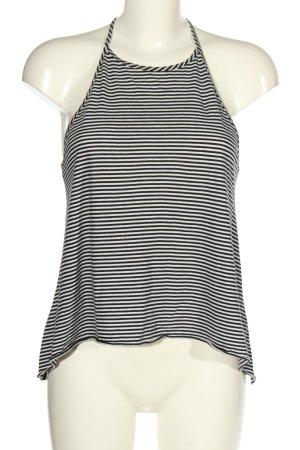 Hollister Haut évasé en bas noir-blanc motif rayé style décontracté