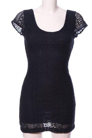 Hollister Abendkleid schwarz Blumenmuster Elegant