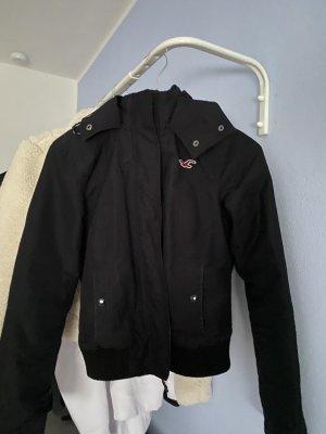 Hollister Kurtka z kapturem czarny-ciemnoniebieski