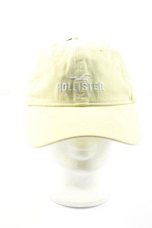 Hollister Casquette gavroche jaune primevère-blanc style décontracté