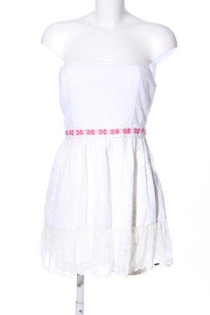 Hollister Bandeau Dress white-pink flower pattern casual look