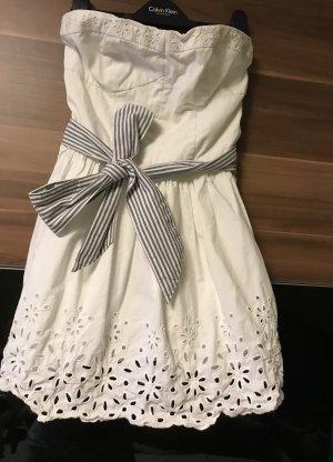 Hollister Robe bandeau blanc-bleu