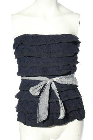 Hollister Top a fascia nero-blu stile casual